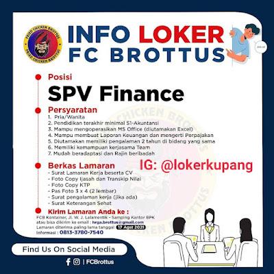 Lowongan Kerja FC Brottus Sebagai SPV Finance
