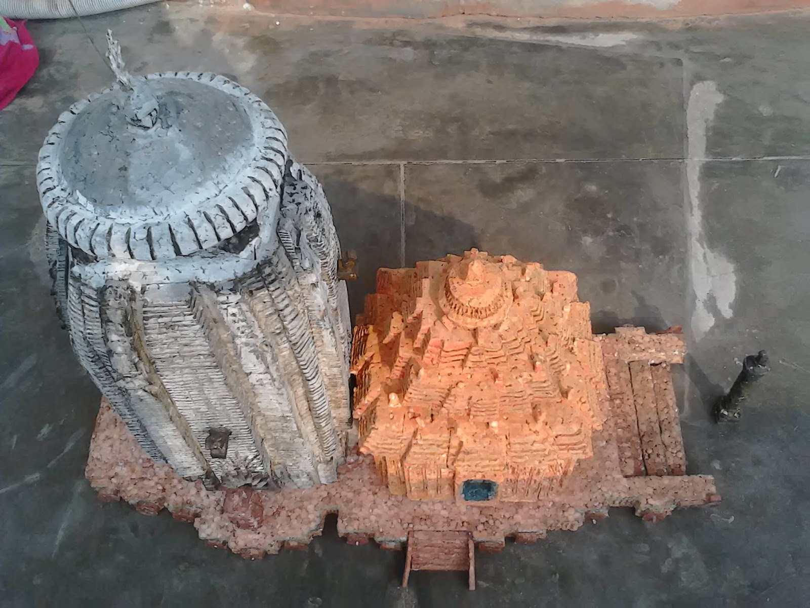 home made models: THERMOCOL SUN TEMPLE OF KONARK ODISHA INDIA