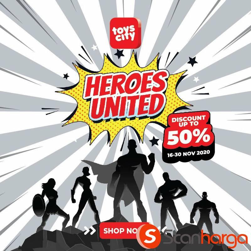 TOYS CITY Promo Mainan Heroes United Diskon hingga 50%