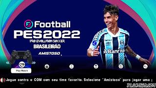 NOVO PES 2022 PPSSPP ANDROID + BRASILEIRÃO A e B EUROPEUS