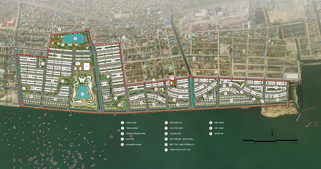 Phối cảnh tổng thể dự án Green Dragon City Cẩm Phả