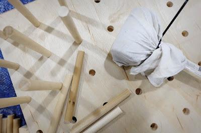 peg pegboard oversize dowel wine rack wall mount rubber mallet