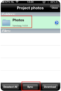 Upload photo's from mobile device directly into Notes mail