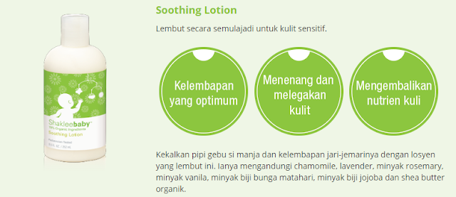 Set Shaklee Baby Soothing Lotion