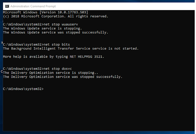 stop windows auto-update using command prompt