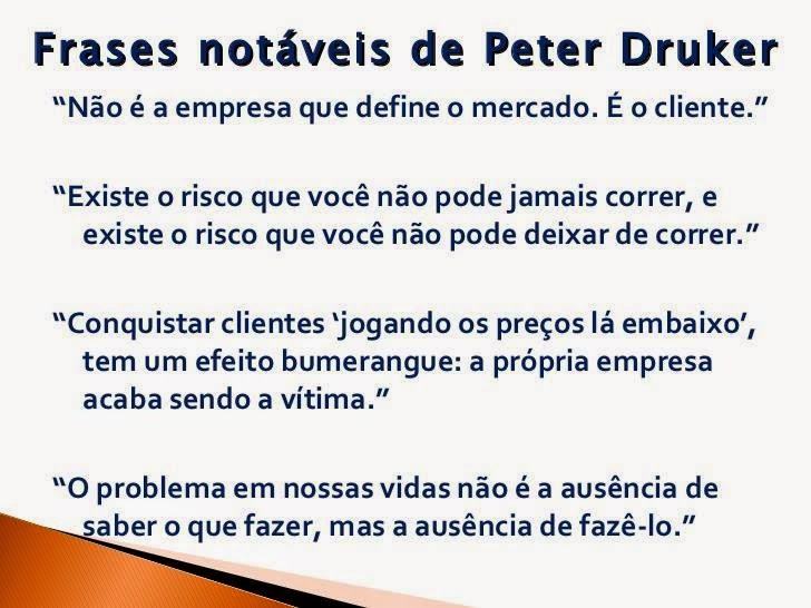 Frases De Peter Drucker Cadeia Logística Do Frio