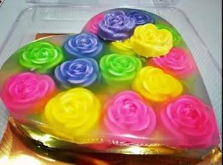 Resep Dan Cara Membuat Puding Kaca Bunga Mawar