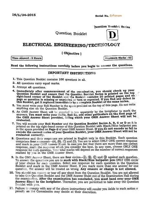 [PDF] BPSC Lecturer Electrical Engineering Solved Paper