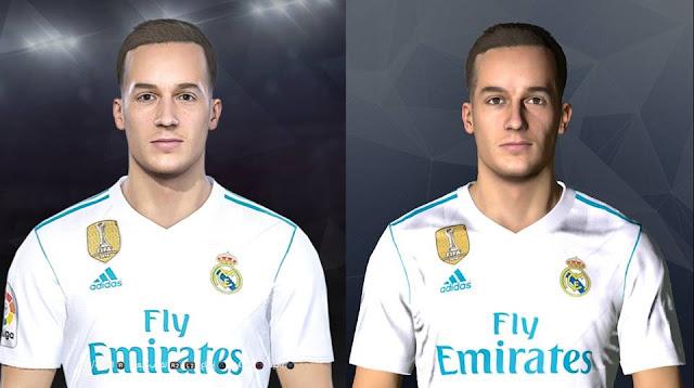 Lucas Vázquez Face For PES 2017 / PES 2018