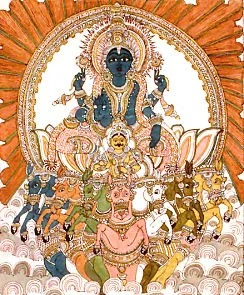 Suryadev , chariot of the sun
