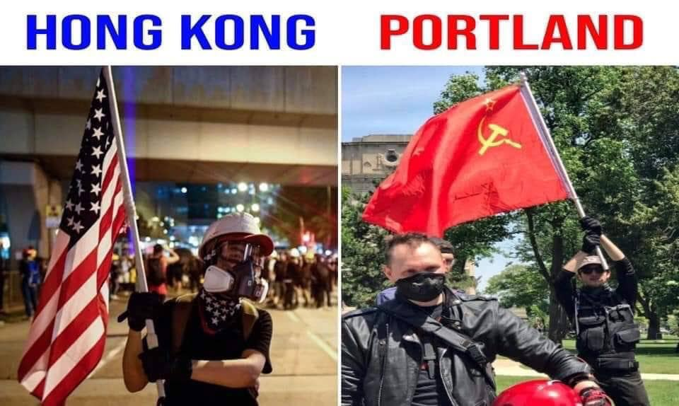 The Tunnel Wall: Protesters Wave American Flags, Sing U.S. ...