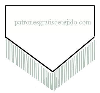 molde cuello con flecos dos agujas