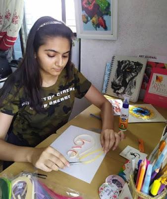 Quilling artist Priyanka Sagar