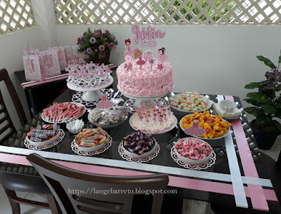 Mesa doces mini aniversário
