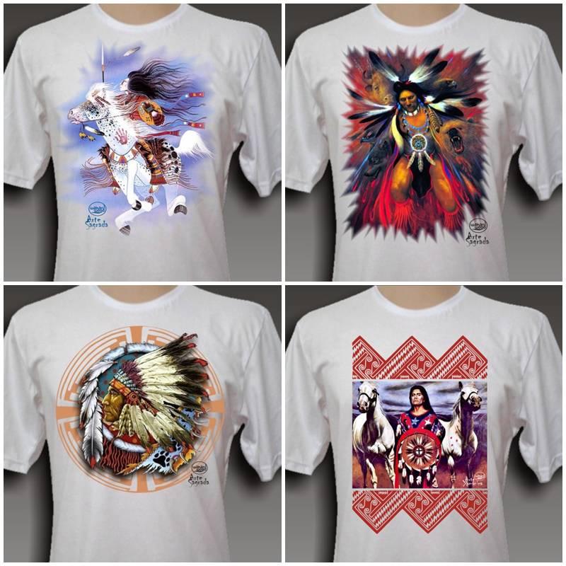 Artesãos Ou Artesaos ~ Wakan Wood Artesanato Xam u00e2nico Novas estampas para Camisetas Wakan Wood