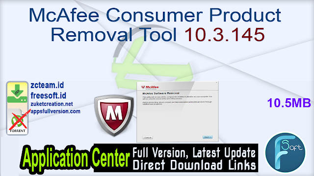McAfee Consumer Product Removal Tool 10.3.145
