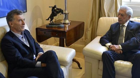 Vargas Llosa elogia la gestión neoliberal de Mauricio Macri