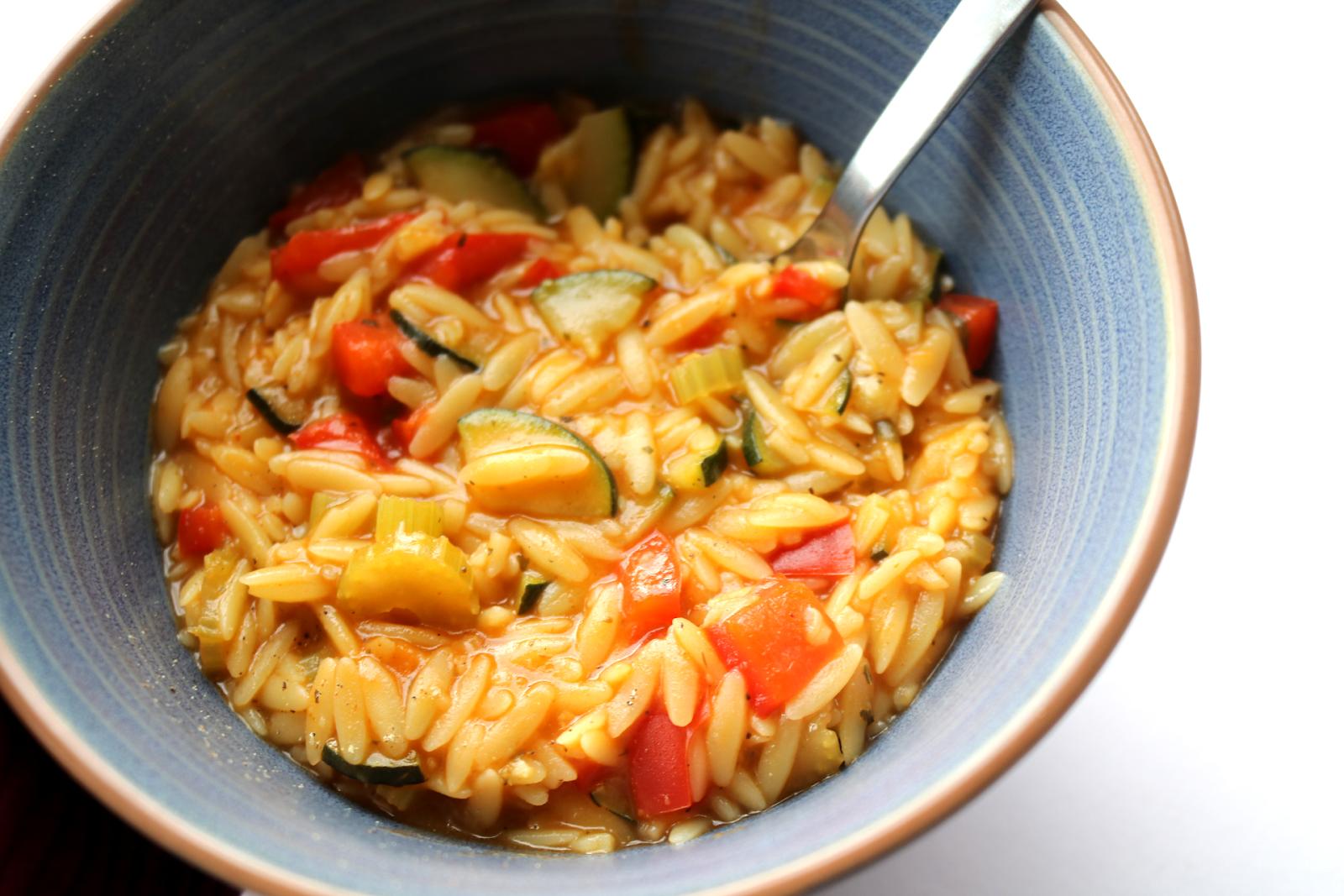 Italian Style Orzo Soup (Vegan / Dairy-Free recipe) #WinterComfortFood
