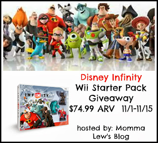 Sign up for the Disney Infinity Blogger Opp, Giveaway runs 11/1-11/15.