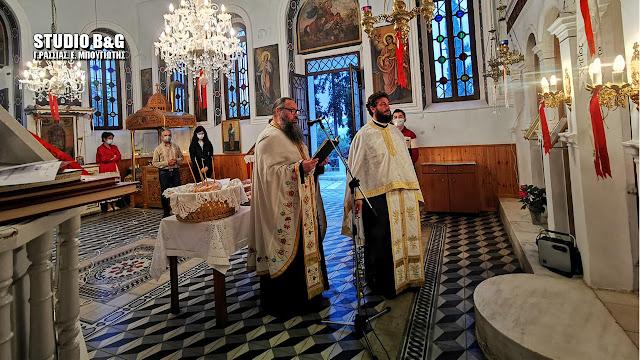 Πανηγυρικός εσπερινός του Αγίου Ιωάννου του Θεολόγου στο εκκλησάκι του Καποδίστρια στο Ναύπλιο (βίντεο)