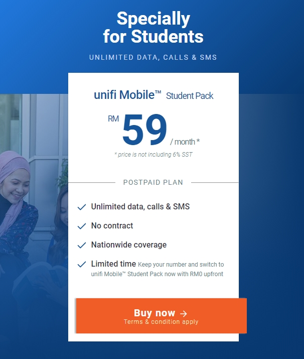 Unifi Mobile Student Pack RM59 25 Universities Colleges List