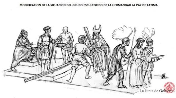 La Paz de Fátima de Jerez acuerda la modificación de su grupo escultórico