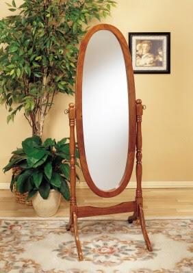 19th Century Oak Cheval Mirror