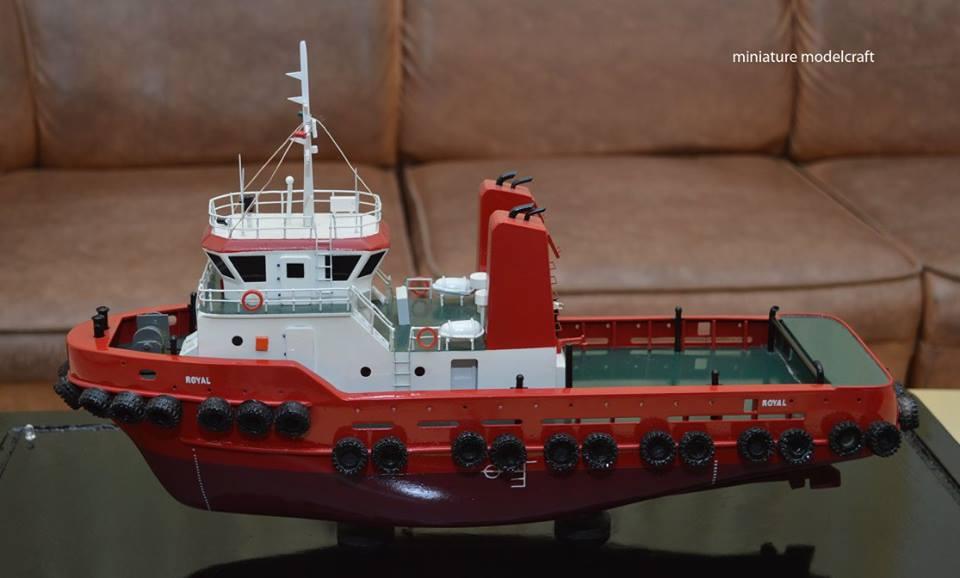 souvenir maket miniatur kapal royal tug boats bergaransi samarinda