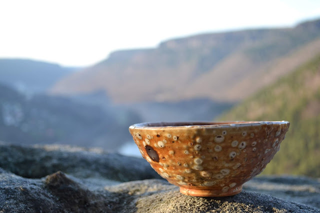 antique bowl against blurred background