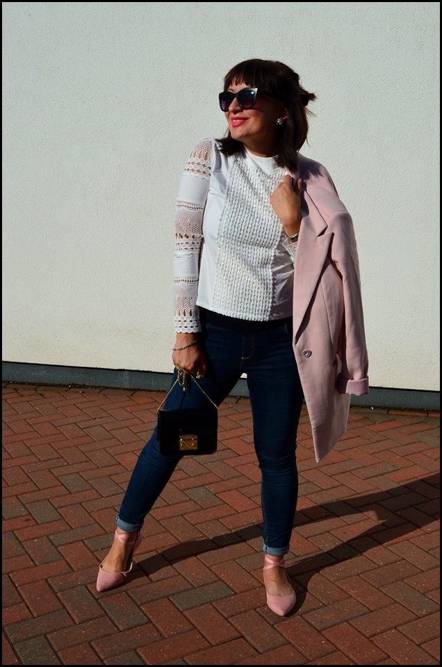 Adriana Style, Ballet Shoes, biała koszula, Blazer, blog modowy Puławy, Blogerka Modowa, bonprix, Fashion, Fashion Blogger, Furla Bag, ASOS Jeans, jeans, Zaful shirt, bluzka zaful, Jeansy, Kobieta, Lato, moda, Styl, Style, Summer, White Shirt, Żakiet, Fashion blog, torebka furla, żakiet bonprix, jeansy asos
