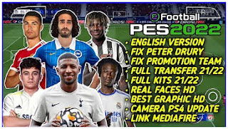 Download eFootball PES 2022 PPSSPP Full Kits And Transfer Best Camera PS4 Update & Fix Team Promotion