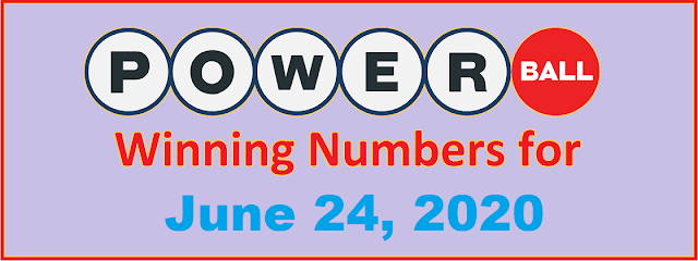 PowerBall Winning Numbers for Wednesday, June 24, 2020