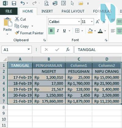 gbr.7 Cara Membuat Tabel Microsoft Excel Nandur93