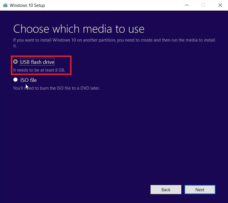 Windows 10 bootable USB tool