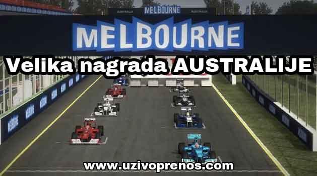 Formula1: Trka za Veliku nagradu Australije 2017 UŽIVO PRENOS