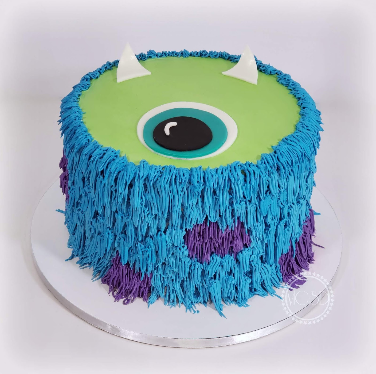Admirable Cakesbyzana Monsters Inc Layer Cake Personalised Birthday Cards Veneteletsinfo
