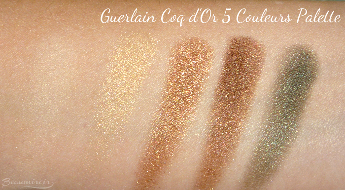 Swatches New Guerlain Coque d'Or Eyeshadow Palette