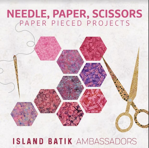 Needle Paper Scissors with Island Batik