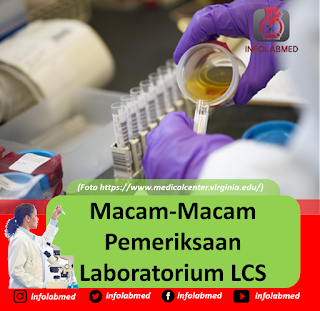 Macam-Macam Pemeriksaan Laboratorium LCS  (Liquour Cerebrospinalis) Atau CSS (Cairan Serebro Spinal)