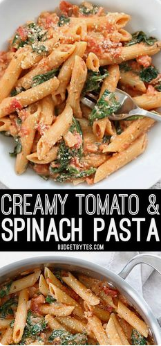 CREAMY TOMATO AND SPINACH PASTA #CREAMY #TOMATO #SPINACH #PASTA  #HEALTHYFOOD #EASYRECIPES #DINNER #LAUCH #DELICIOUS #EASY #HOLIDAYS #RECIPE #DESSERTS #SPECIALDIET #WORLDCUISINE #CAKE #APPETIZERS #HEALTHYRECIPES #DRINKS #COOKINGMETHOD #ITALIANRECIPES #MEAT #VEGANRECIPES #COOKIES #PASTA #FRUIT #SALAD #SOUPAPPETIZERS #NONALCOHOLICDRINKS #MEALPLANNING #VEGETABLES #SOUP #PASTRY #CHOCOLATE #DAIRY #ALCOHOLICDRINKS #BULGURSALAD #BAKING #SNACKS #BEEFRECIPES #MEATAPPETIZERS #MEXICANRECIPES #BREAD #ASIANRECIPES #SEAFOODAPPETIZERS #MUFFINS #BREAKFASTANDBRUNCH #CONDIMENTS #CUPCAKES #CHEESE #CHICKENRECIPES #PIE #COFFEE #NOBAKEDESSERTS #HEALTHYSNACKS #SEAFOOD #GRAIN #LUNCHESDINNERS #MEXICAN #QUICKBREAD #LIQUOR