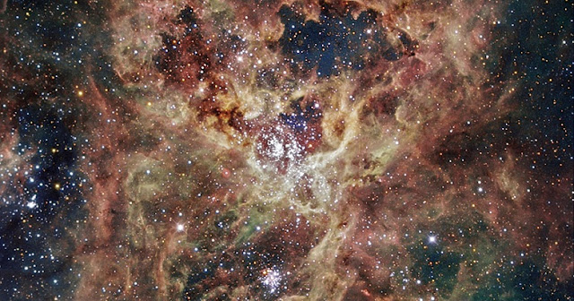 ESO image of the 30 Doradus nebula. Photo by ESO/IDA/Danish 1.5 m/R. Gendler, C. C. Thöne, C. Féron, and J.-E. Ovaldsen.