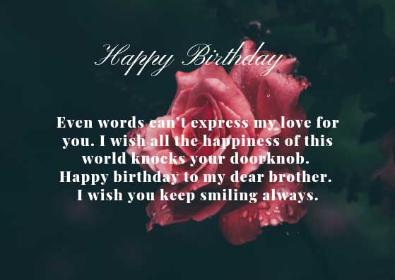 Happy birthday to my dear brother