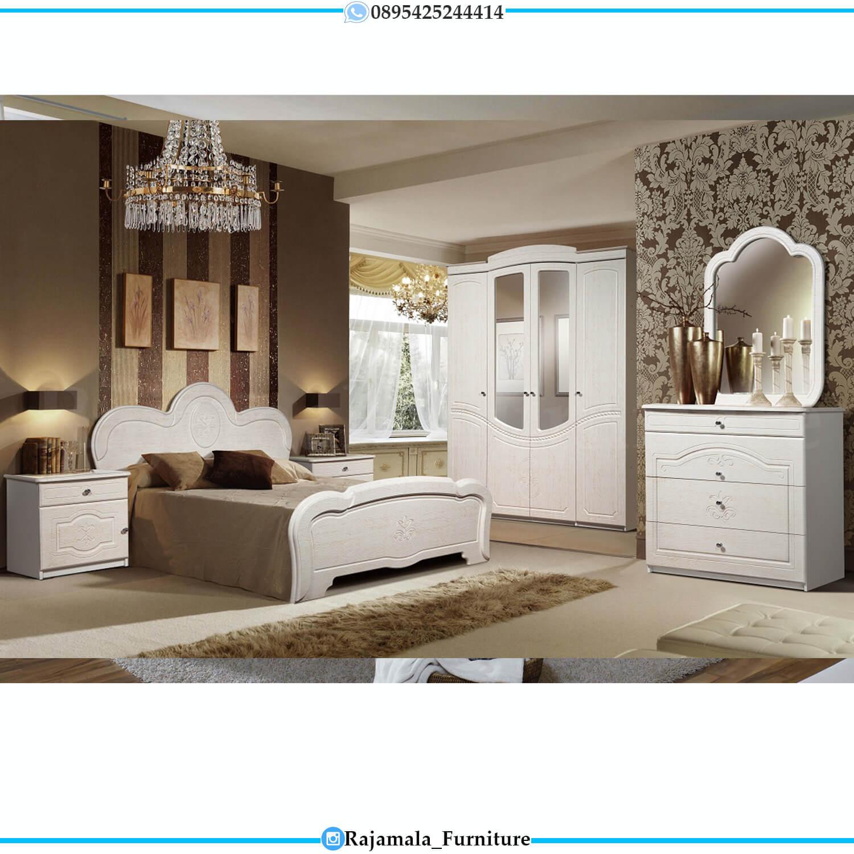 New Set Tempat Tidur Minimalis Putih Duco Terbaru Luxury Color Glossy RM-0448