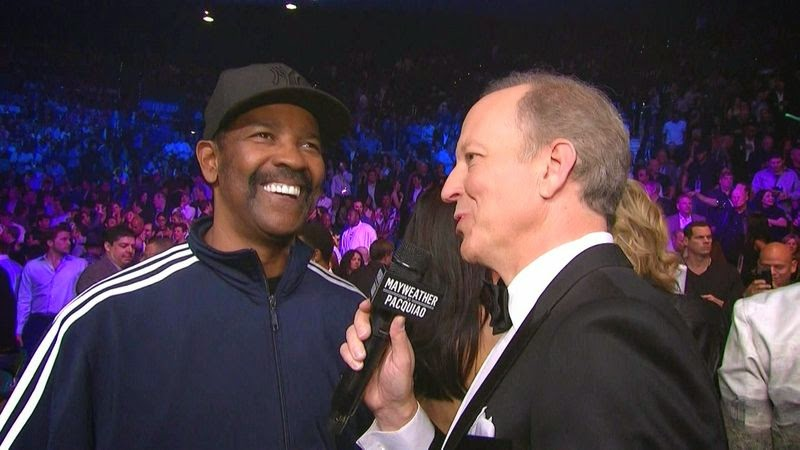 Denzel Washington at Mayweather-Pacquiao fight
