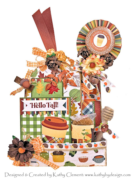 Photo Play Autumn Greetings Loaded Pocket Card by Kathy Clement for Really Reasonable Ribbon