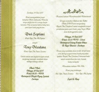 Cetak Undangan Pernikahan murah di Tasikmalaya RP 1000