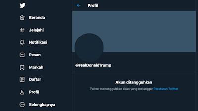 Screenshoot Donald Trump account