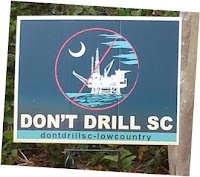 posted sign; Sullivan's Island; South Carolina; offshore drilling; political opposition