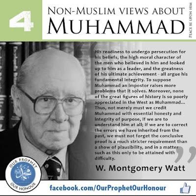 W. Montgomery Watt view about Prophet Muhammad (PBUH) by Ummat-e-Nabi.com