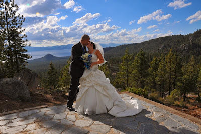 Bride and Groom at Lake Tahoe